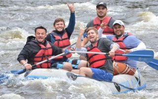 Manor of Hope guys white water rafting