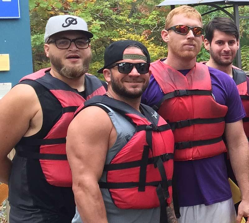 elliot, doug and john rafting