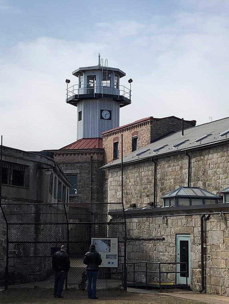 Outside Eastern State Penitentiary