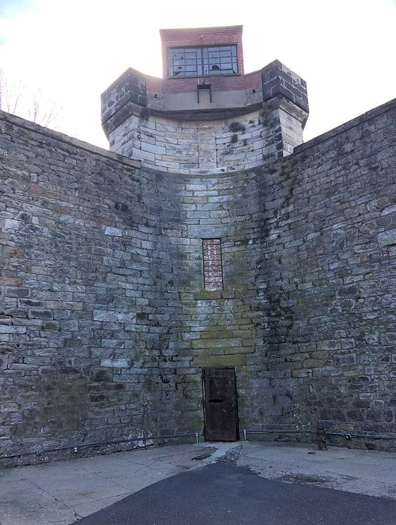 the walls of Eastern State Penitentiary