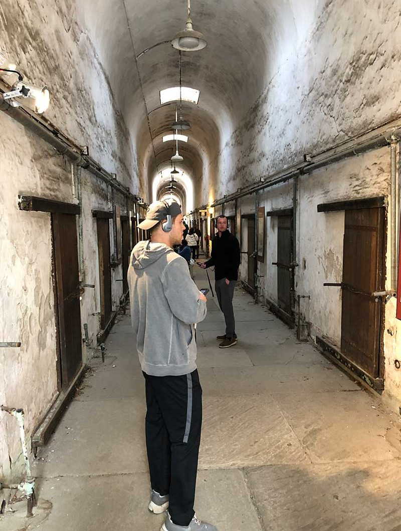 Hayden takes a tour