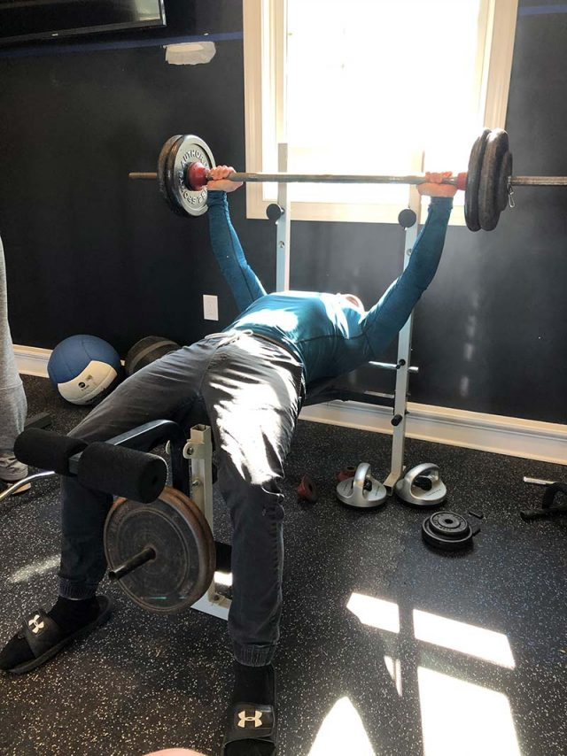 lifting at the Wellness Center