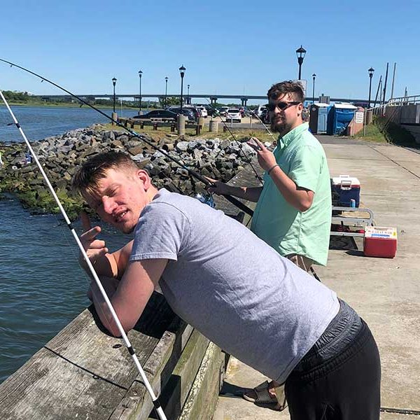 fishing at the jersey shore