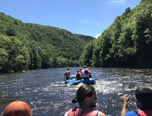The guys go white water rafting down the Lehigh River