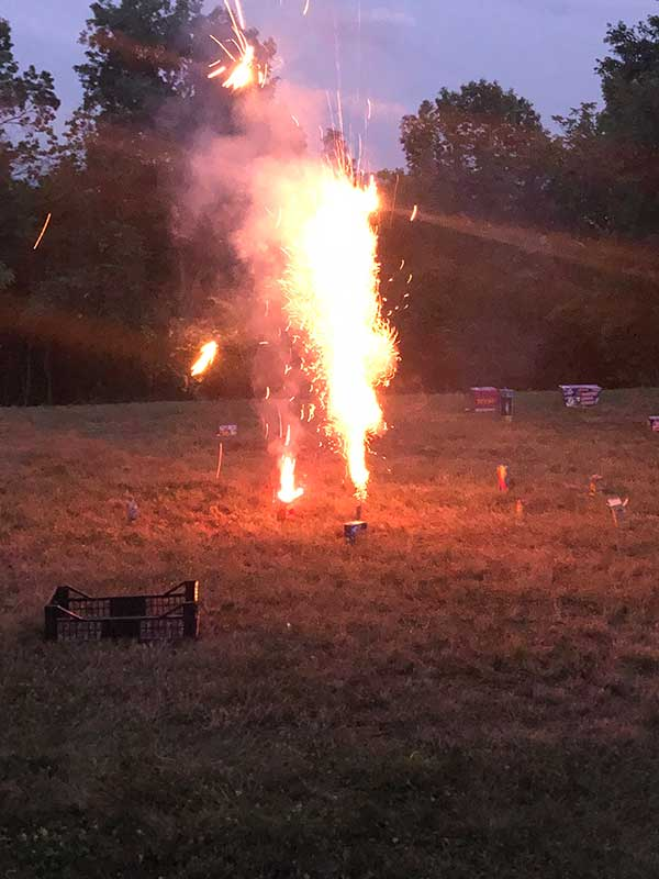 fireworks in sky
