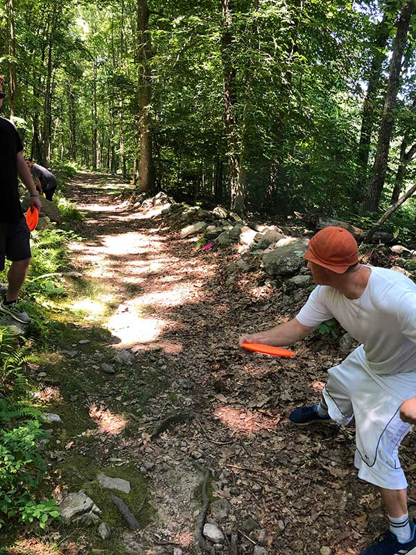 frisbee in the woods - manor of hope phoenixville pa