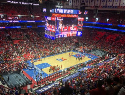 The guys check out a 76ers playoff game