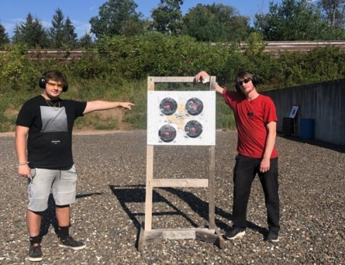 The Guys Learn Safety and Shooting at the Range